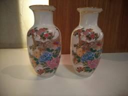 Par de vasinhos porcelana chinesa