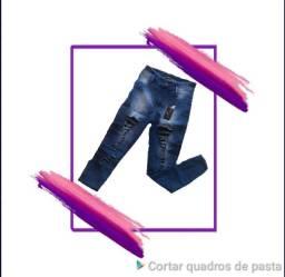 Calça Jeans com lycra com alta qualidade