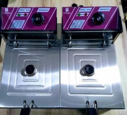 Fritadeira Elétrica Industrial 2500w 12 Litros com Tampa 220v