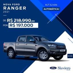 Ford Ranger Cab Dupla XLT 3.2 4x4 AUT - Diesel 2021 0KM - Polyanne *