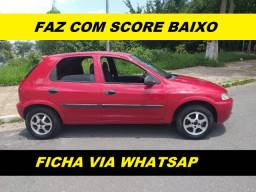 Financiamento com score baixo Gm Celta 4 portas