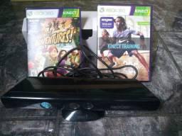 Kinect xbox 360 mais 2 jogos com garantia .