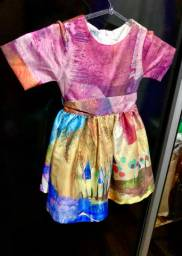 Vestido de festa infantil colorido
