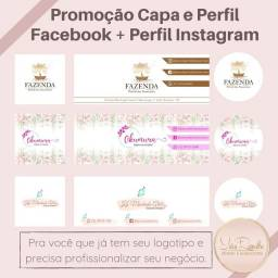 Capa e Perfil Facebook+ Perfil Instagram