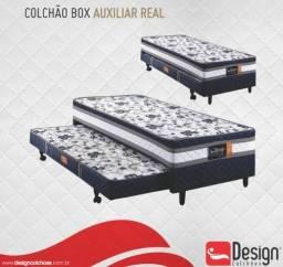 Cama Box Solteiro C/Auxiliar