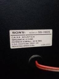 Par de caixas Sony para som residencial