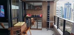 Apartamento mobiliado para alugar em Miramar; 4 suítes