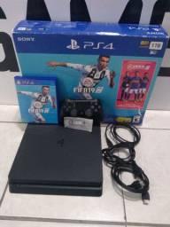 PS4 Slim 1 TB Impecável com Fifa 19