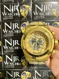 Relógio Invicta bolt Zeus Banhado a ouro novo