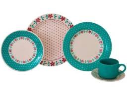 Aparelho de Jantar Chá 20 Peças Biona Cerâmica - Redondo Donna <br><br>