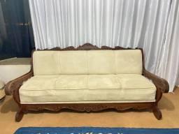 Vendo sofa de madeira massisa raridade pra colecionador