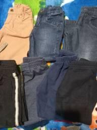 Lote calças tamanho 1/2 meninos - lote1