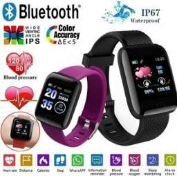 Lindo relógio inteligente smartwatch ios android