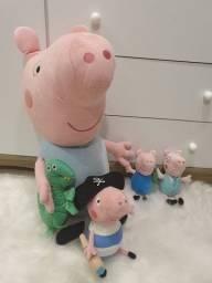 Kit George pig e papai pig (grande 70cm)