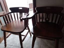 2 cadeiras em imbuia