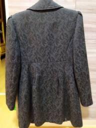 Título do anúncio: Vendo casaco tecido trabalhado usado 2x SOMENTE