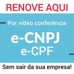 Renove aqui seu e-CNPJ e-CPF