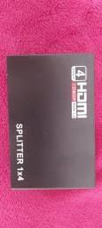 Hub Hdmi 1x4 Splitter 1 Entrada E 4 Saídas Full Hd 1.4 3d