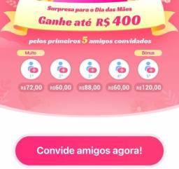 Ganhe  400 reais apenas indicando 5  amigos