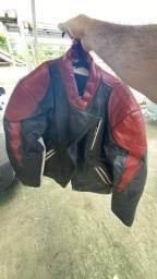 Jaqueta + calça motociclista original 100% couro
