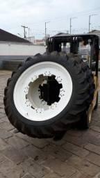 Par de rodas universais com pneus 12.4x38R1