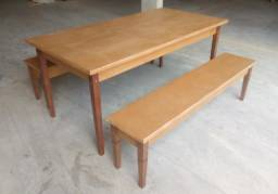 Kit Mesa MDF e madeira