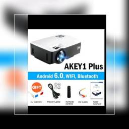 Aun Projetor Akey1/plus Android 6.0 1800 Lumens
