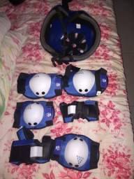 Kit proteção de patins e skate