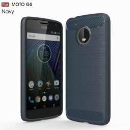 Capa Tpu Escovado Para Motorola Moto G5'