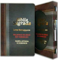 Bíblia sagrada letra extra gigante