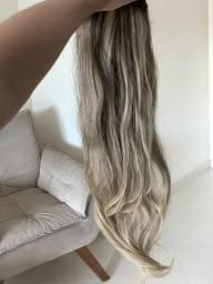 Vendo cabelo humano loiro 150g
