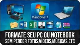 Formate seu notebook, netbook ou PC com segurança e garantia