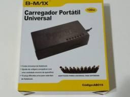 Fonte Universal Notebook Laptop BM 10 plug, 12 a 24v - 120w - Lacrado