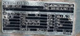 Motoredutor SEW, Trifásico, Modelo SEW R97 DX160L4