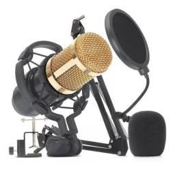 Kit Microfone Youtuber, Gravação, Live Condensador