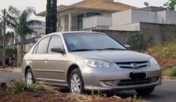 Civic 2005 1.7, manual, bancos de couro, mecânica original, carro excelente