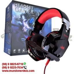 Fone de Ouvido Headset Led Gamer Knup KP-455A em São Luís Ma