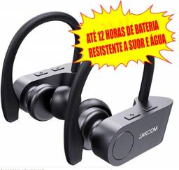 Fone sem fio 12h de bateria Jakcom esportivo com microfone resistente a água suor