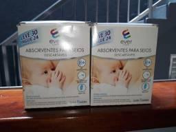2 Caixa de absorvente para seios Ever Care 30 unidade cada