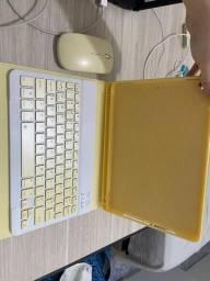 Capa protetora para iPad 7th com teclado Bluetooth e mouse Bluetooth