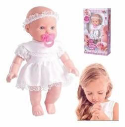 Boneca Baby Minha Primeira Oração Reza O Pai Nosso