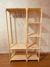 Arara closet  pinus(caixotes opcionais)