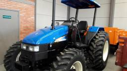 Trator New Holland TL75 4x4, ano 2010, com motor MWM, completo