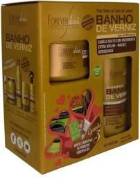Forever Liss Kit Banho De Verniz Shamp 300ml Másc 250g