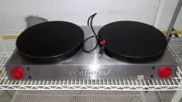 Maquina De Crepe Dupla Profissional Panquequeira Elétrica (Crepeira)