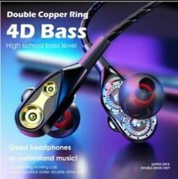 Fone de ouvido 4 D Bass