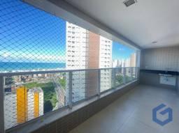 apartamento com 4 quartos +dce,vista mar,varanda gourmet ,área de lazer completa, Miramar