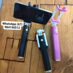 Bastão Extensor Pau De Selfie bluetooth Suporte Celular Foto