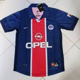 Camisa retrô PSG 1998 camisa clássica_decada de 90 tamanho M