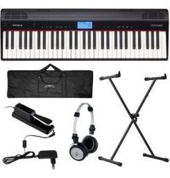 Piano Digital Roland Go Piano Go61p Bluetooh + Kit - Produto Novo - Loja Física